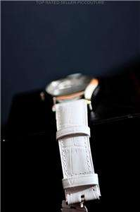 NIB Emporio Armani White Leather Mens Watch AR0696 $195