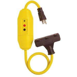 Tower Manufacturing Corporation 25 ft. In Line GFCI Triple Tap Cord