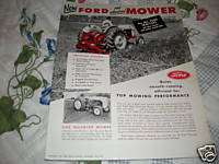 Ford Tractor Mowers dealers brochure
