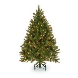 Lit LED Feel Real Downswept Douglas Fir Tree with Soft White Lights