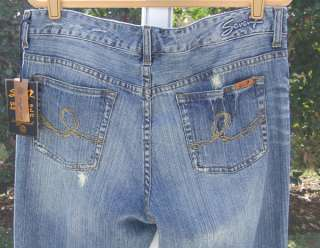 PREMIUM BRAND DENIM DESTROYED BLUE SLIM SKINNY JEANS 32/32.5 NEW