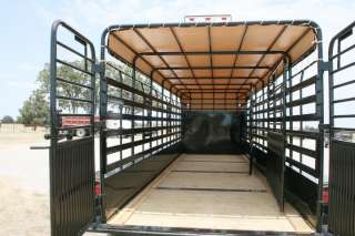 New 24 Gooseneck Livestock Cattle Trailer w/7K Axles