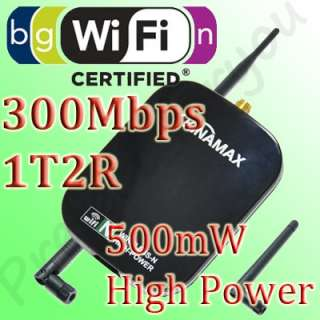 Kinamax USB High Power Wireless Wifi 802.11 n/g/b Adapter