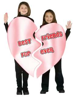 Child Best Friends Forever Heart Costume   Funny Group Costumes