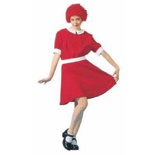 Little Orphan Singing Girl Red Dress Costume Small Adult