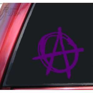 Anarchy Symbol Vinyl Decal Sticker   Purple Automotive