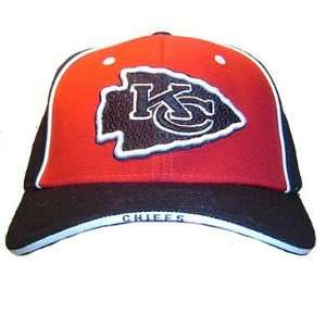 NFL KANSAS CITY CHIEFS RED BLACK REEBOK NEW CAP HAT ADJ
