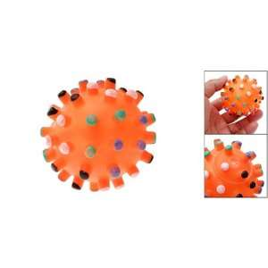 Orange Pet Dog Puppy Toy Chew Squeak Squeaky Small Ball