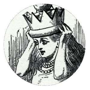 Style Round Fridge Magnet Alice with crown