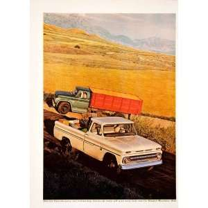 1966 Ad Vintage Chevrolet Engine Fleetside Pickup Truck