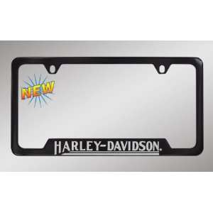 Harley Davidson Car Truck SUV License Plate Frame Black Metal   Script