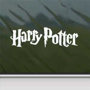 Harry Potter White Sticker Car Laptop Vinyl Window White