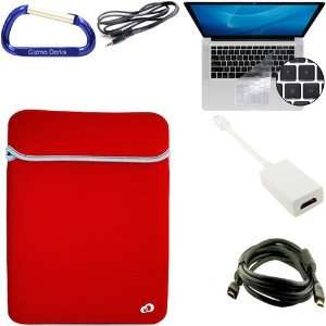 Set Apple MacBook Pro / MacBook Air 13.3 Inch Black / Red Laptop