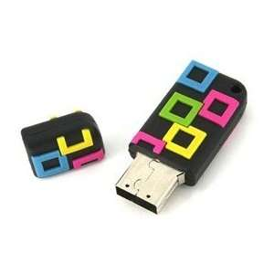 4GB Small Square USB Flash Drives Disk (Black) Electronics