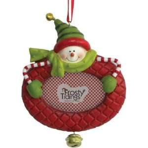 Red Frame Holiday Christmas Tree Ornament with Say Cheese