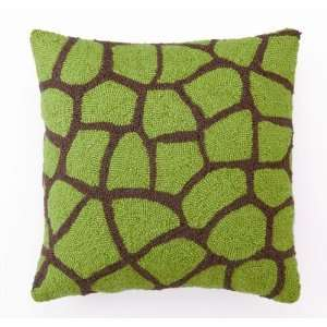Green & Brown Giraffe Hook Pillow Baby