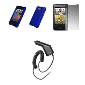 Crystal Clear Screen Protector + Rapid Car Charger for HTC Aria Cell