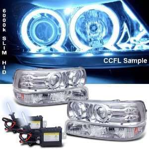 Chevy Silverado Ccfl Halo LED Projector Head Lights+bumper Automotive