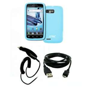EMPIRE Motorola Atrix 2 Light Blue Silicone Skin Case