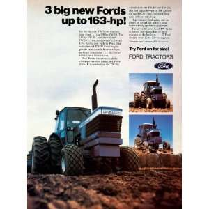 1980 Ad Ford Tractors Farming Machinery Equipment