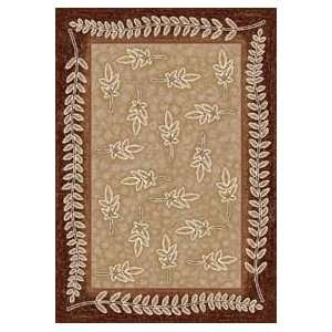 Nandinas Dark Coral Country 7.7 ROUND Area Rug