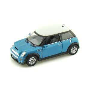 Mini Cooper S 1/28 Light Blue  Toys & Games