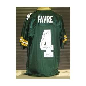 Autographed/Hand Signed Green Bay Packers Reebok Jersey w/Career Stats