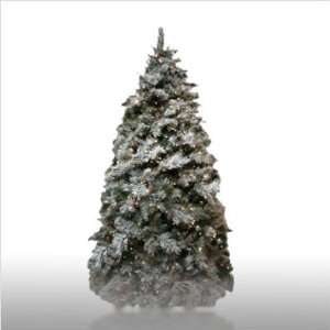 Prelit Frosted Spruce Artificial Christmas Tree Set