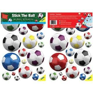 FunToSee Mini Wall Art Decals, Soccer Balls