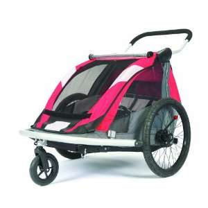 Child Bicycle Trailer (Red/Silver/Grey)