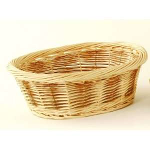 Round Braided Rim Natural Willow Decor Fruits Tray