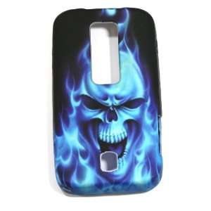 Blue Flaming Skull Soft Silicone Skin Gel Cover Case for