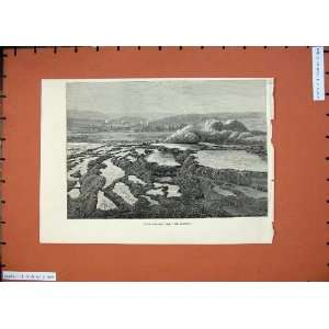 1874 Upper Fire Hole Old Faithful Mountains Fine Art