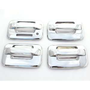 04 11 Ford F 150 (4 Doors) Chrome Door Handle Covers with keypad & w/o