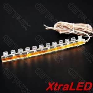 24 LED Strip Car Lights Flexible Grill Light Yellow