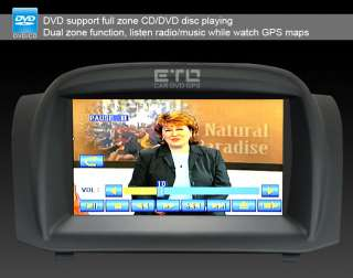 ETO Ford Fiesta In Car GPS Sat Nav Navigation DVD Player Radio Auto