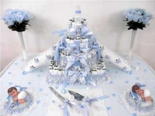 Boys Baby Shower Diaper Cake Centerpiece/Gift/Decoration/Favor/Theme
