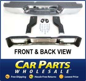 New Step Bumper Rear Chrome Chevy S10 Pickup Chevrolet 2003 2002 2001