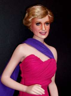 OOAK FRANKLIN MINT PORCELAIN PRINCESS DIANA DOLL
