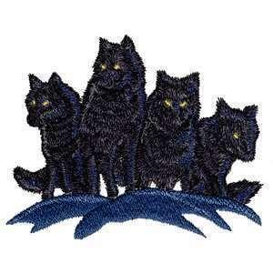 Epic Night Wolf Pack Shadow Moon Wolves Iron on Patch