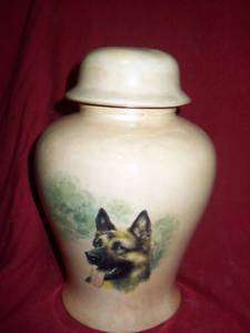Pet/Dog/Urn cremation/memorial/ German Shepherd
