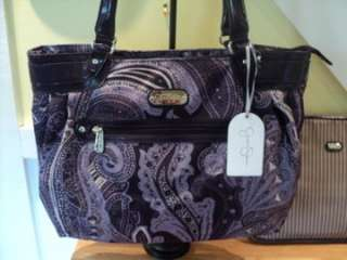 SPOONFUL OF SUGAR PURPLE PAISLEY TOTE NWT LAPTOP COVER INCLUDED