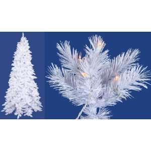 6.5 Pre Lit Slim White Ashley Spruce Artificial Christmas Tree
