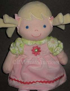 Baby Girl Doll Dolly PINK Dress Blonde Blue Eyes Soft Toy Lovey