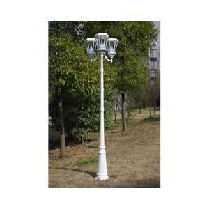 Gama Sonic USA GS 94T WHI Solar Lamp Post Patio, Lawn & Garden